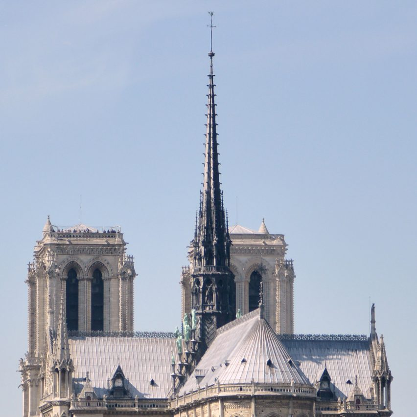 Paris' Notre-Dame Cathedral spire before the fire