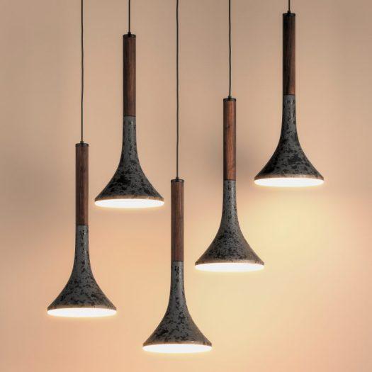 Aura lighting fixtures by Bandido Studio