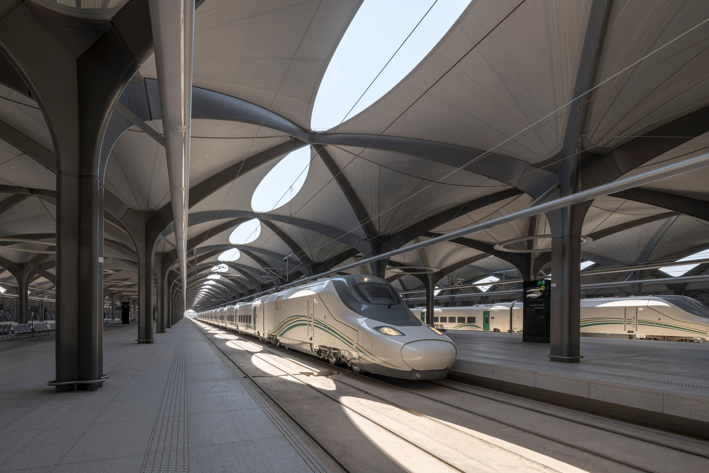 Stations in Mecca, Medina, Jeddah and King Abdullah Economic City on the Haramain high-speed rail line Saudi Arabia by Foster + Partners