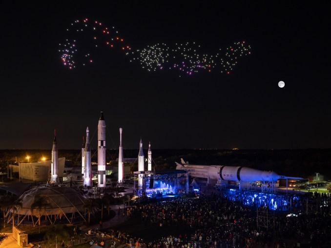 Studio Drift Kennedy Space Centre moon landing drones