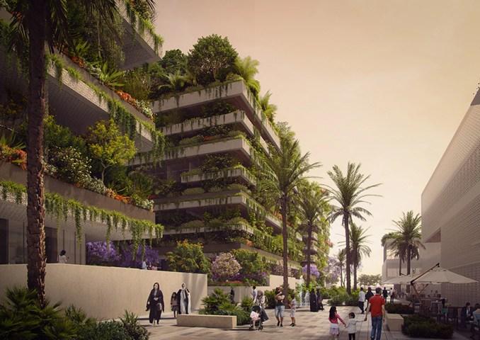 Egypt vertical forest blocks by Stefano Boeri Architetti