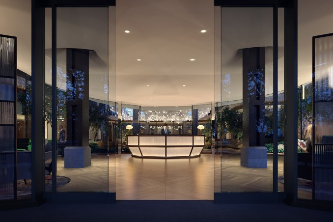 Lobby Pavilion at Lantern House by Thomas Heatherwick