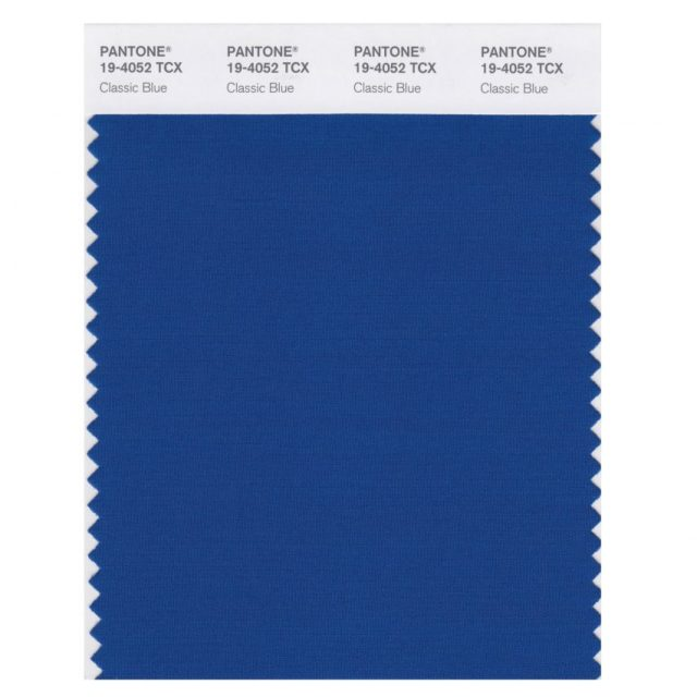 Pantone colour of the year 2020 is Classic Blue