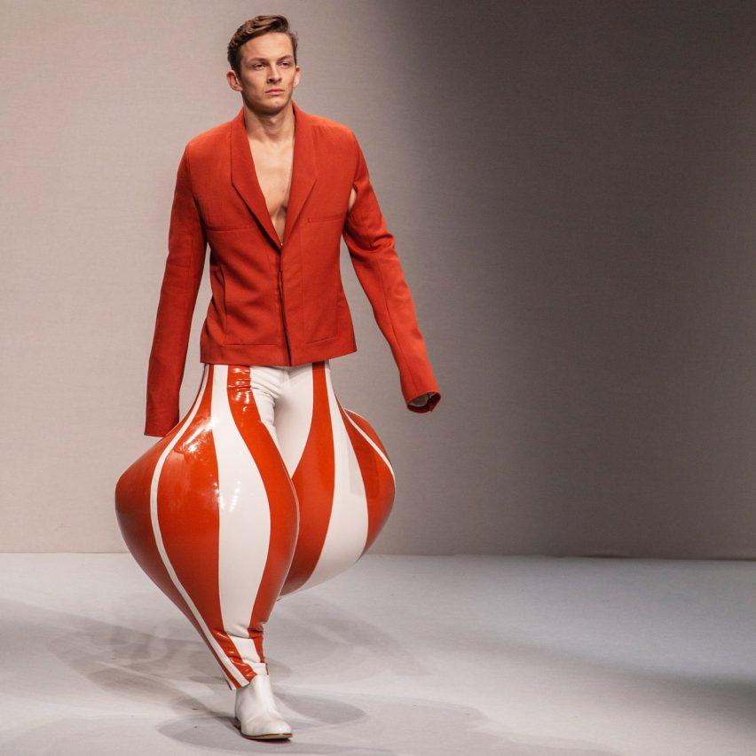 Inflatable latex garments by Harikrishnan