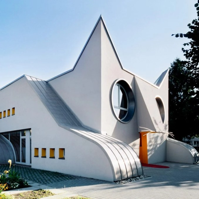 Kindergarten Wolfartsweier, Germany, 2002, by Jurgen Mayer H, WORKac, Clavel Arquitectos, Nicolas Buffe and K/R