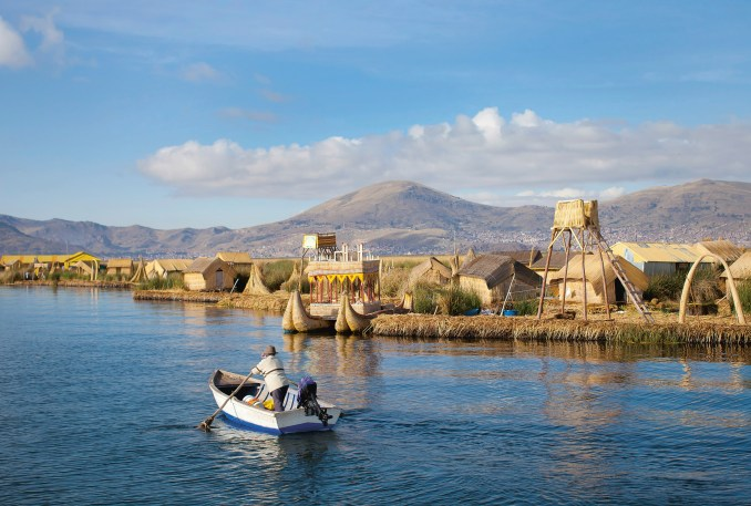 Totora Reed Floating Islands are manmade islands created from reeds in Peru