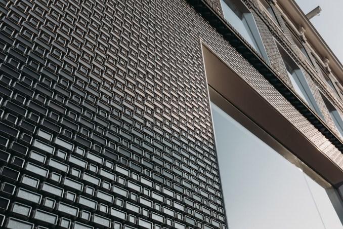 Louis Vuitton store on PC Hooftstraat called Brick Pixelation by UNStudio