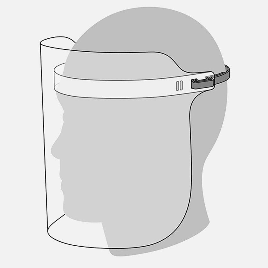 Apple face shields
