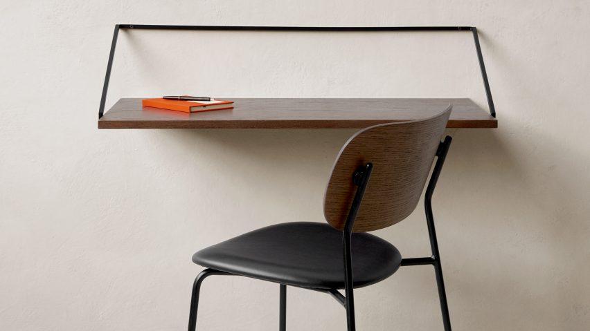 home office essentials including desks