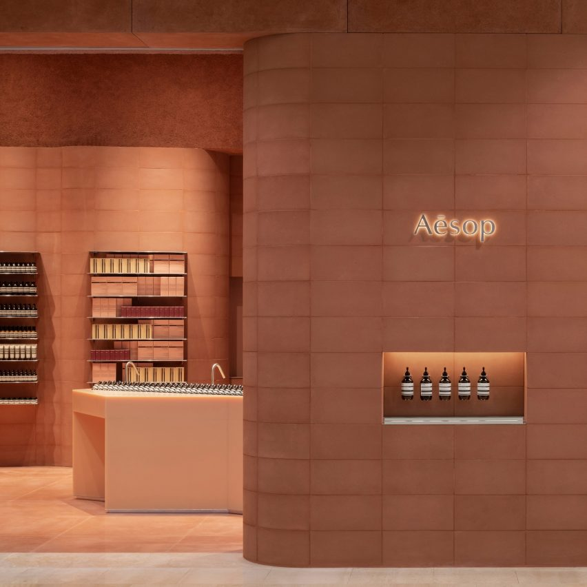 Aesop store by Al-Jawad Pike at Westfield shopping centre in Sheperd's Bush, London