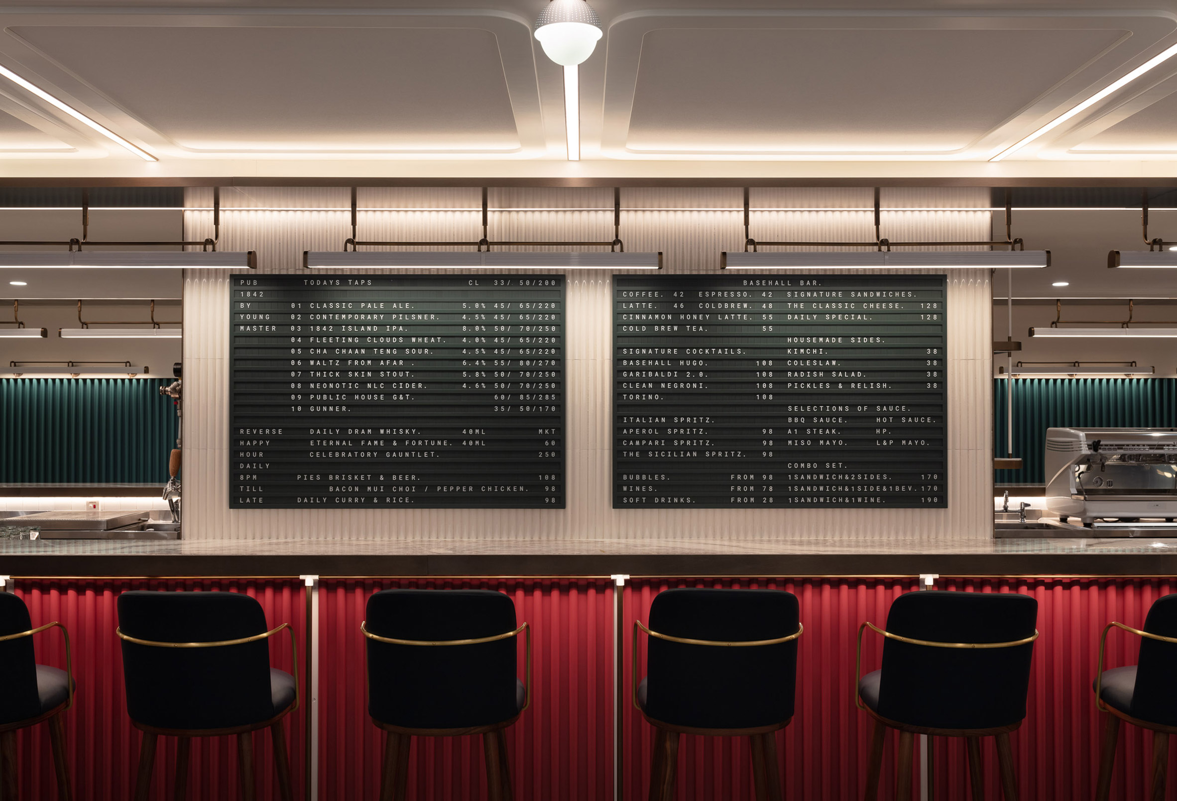 Basehall food hall in Hong Kong designed by Linehouse