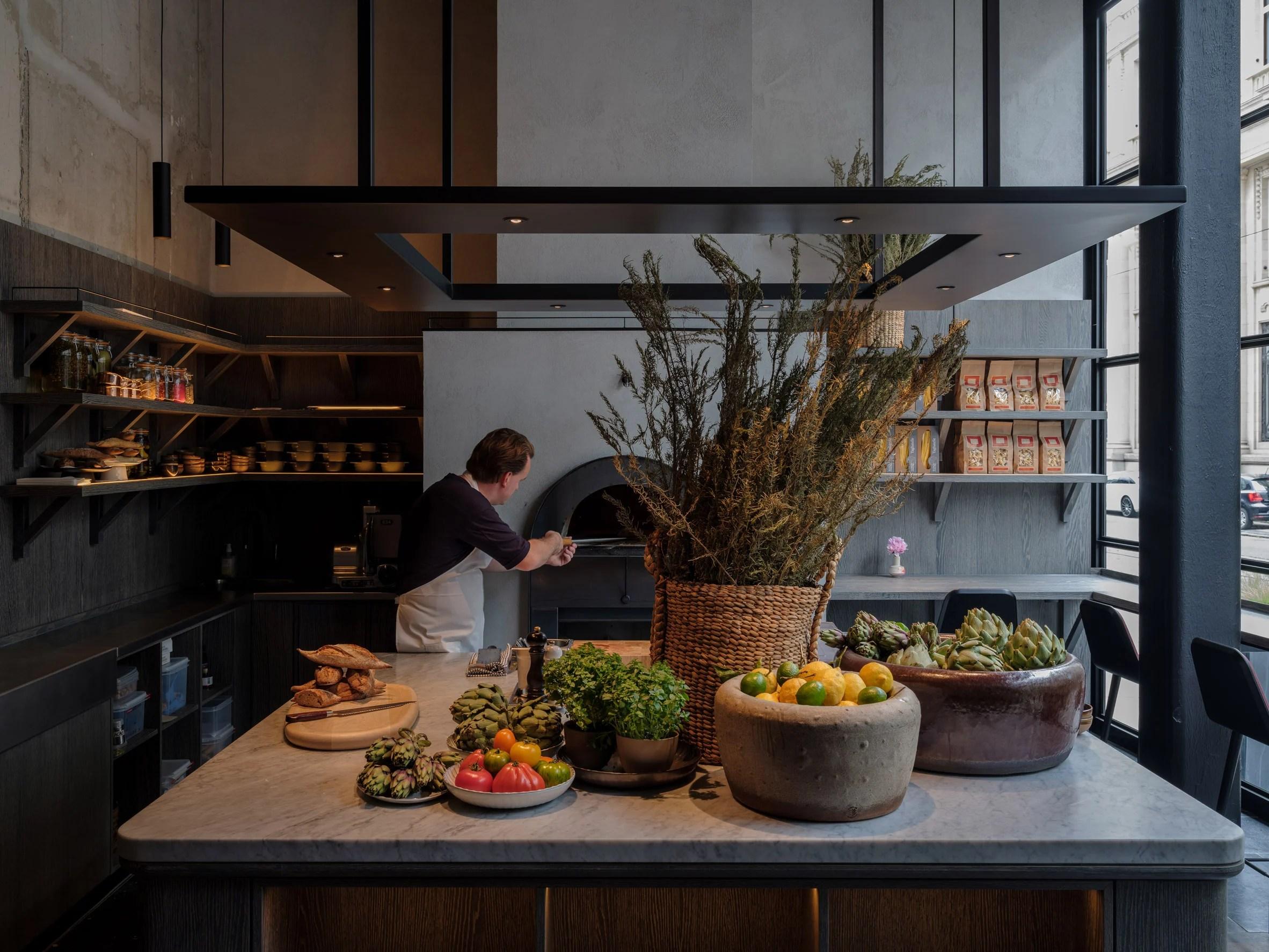 Le Pristine restaurant in Antwerp designed by Space Copenhagen