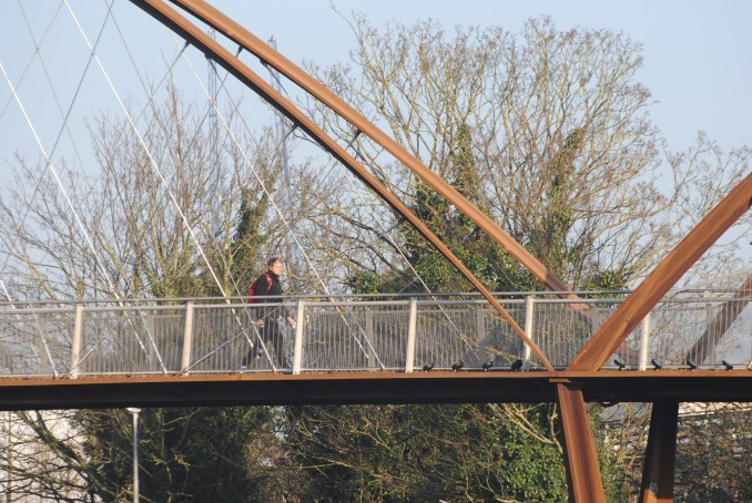 Chiswick Park Footbridge by Useful Studio in Chiswick, west London