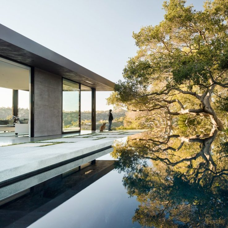 Piscines architecturales: Oak Pass House, USA, par Walker Workshop