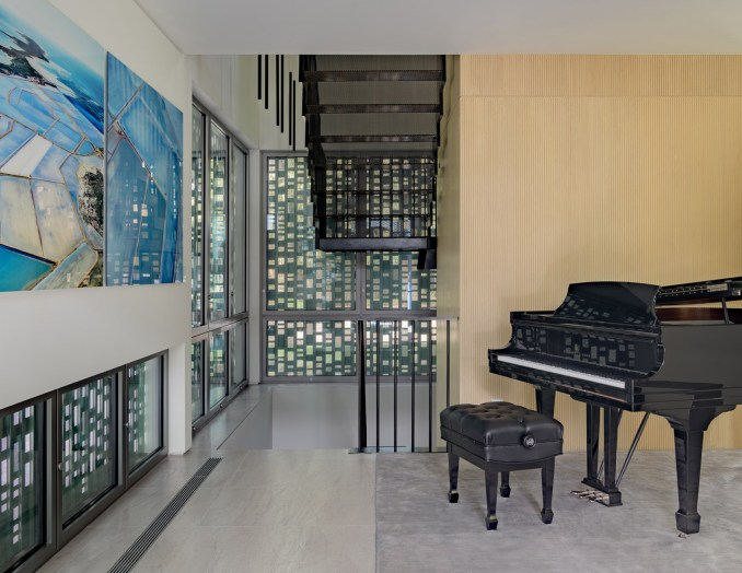 Piano recital room of Music Box by CCY Architects