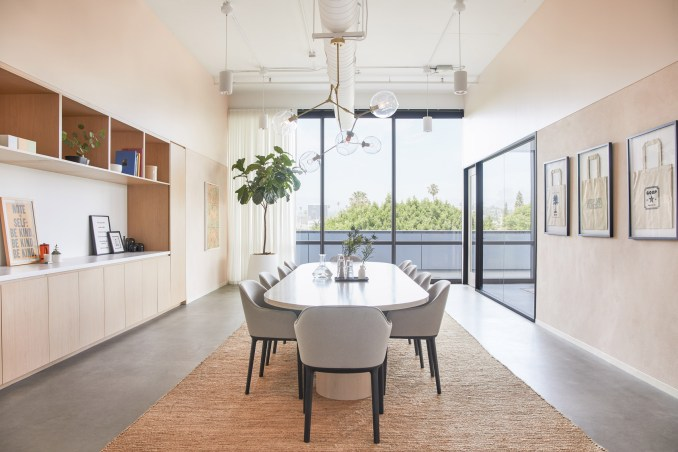 Meeting rooms inside the Goop headquarters designed by Rapt Studio