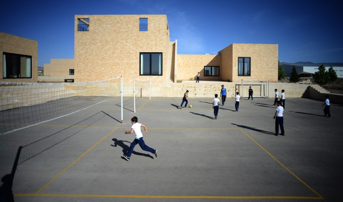 The Noor E Mobin G2 Primary School by FEA Studio made of brick in Iran