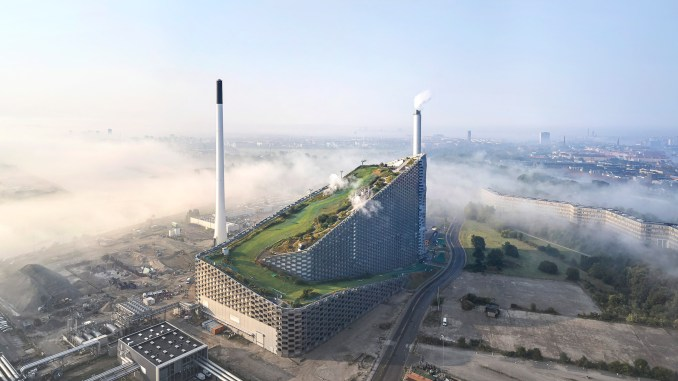 Hufton + Crow photographs of Amager Bakke, the power station and ski slope designed by BIG in Copenhagen