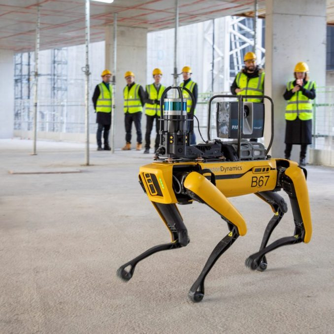 Boston Dynamic's Spot robot dog assists architecture firm Foster + Partners at Battersea Power Station