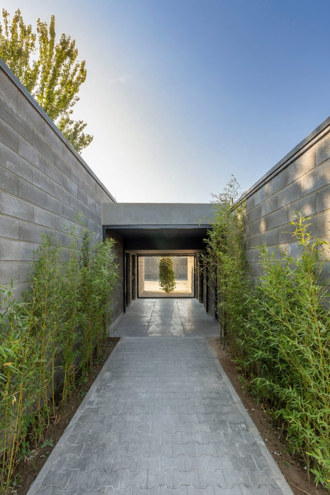 Concrete volumes for Aptus Factory Showroom by Hooba Design Group