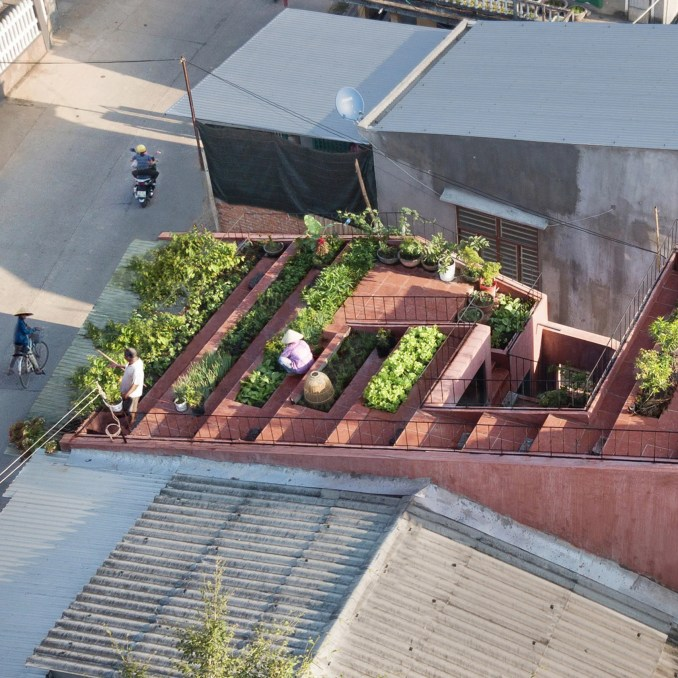 An aerial view of The Red Roof, Vietnam, by TAA Design