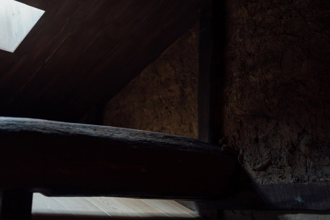 Original structural details inside Maana Kamo guesthouse by Uoya Shigenori