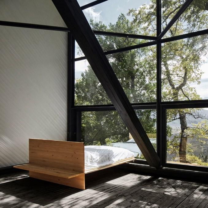Bedroom in Prism House + Terrace Room, Chile, by Smiljan Radíc
