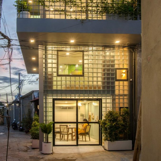Glass Brick Micro House by ROOM+ Design & Build