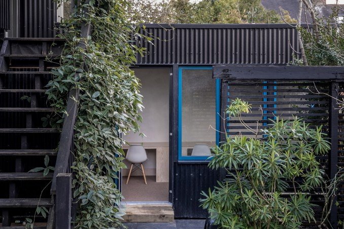 The black exterior of Segal House by Fraher & Findlay