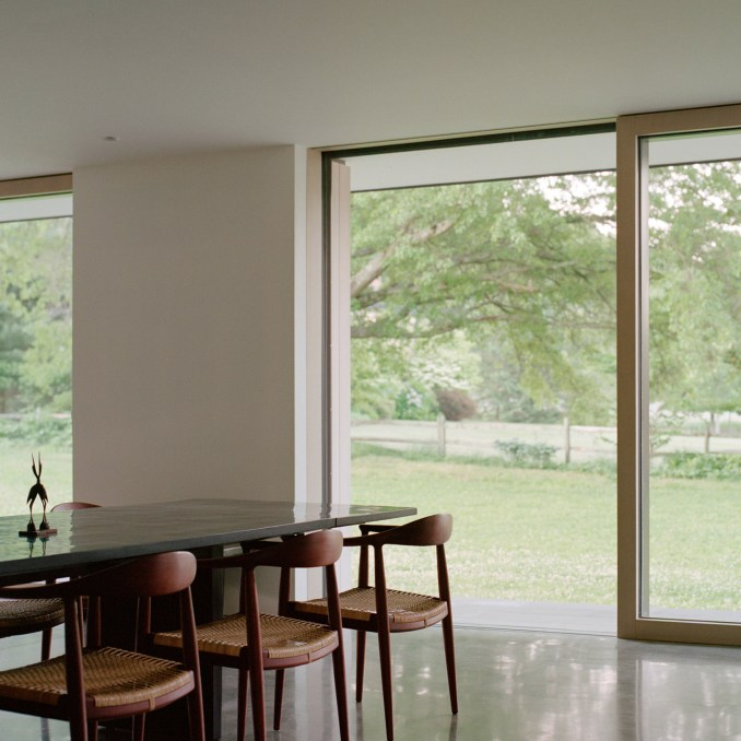 Dining room in Sheffield House by Vincent Appel