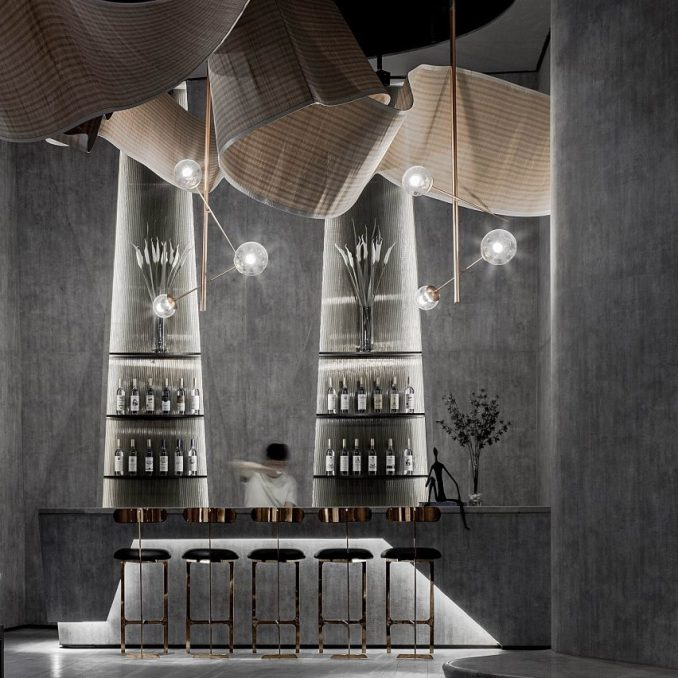The Flow of Ecstatic bar interiors by Daosheng Design
