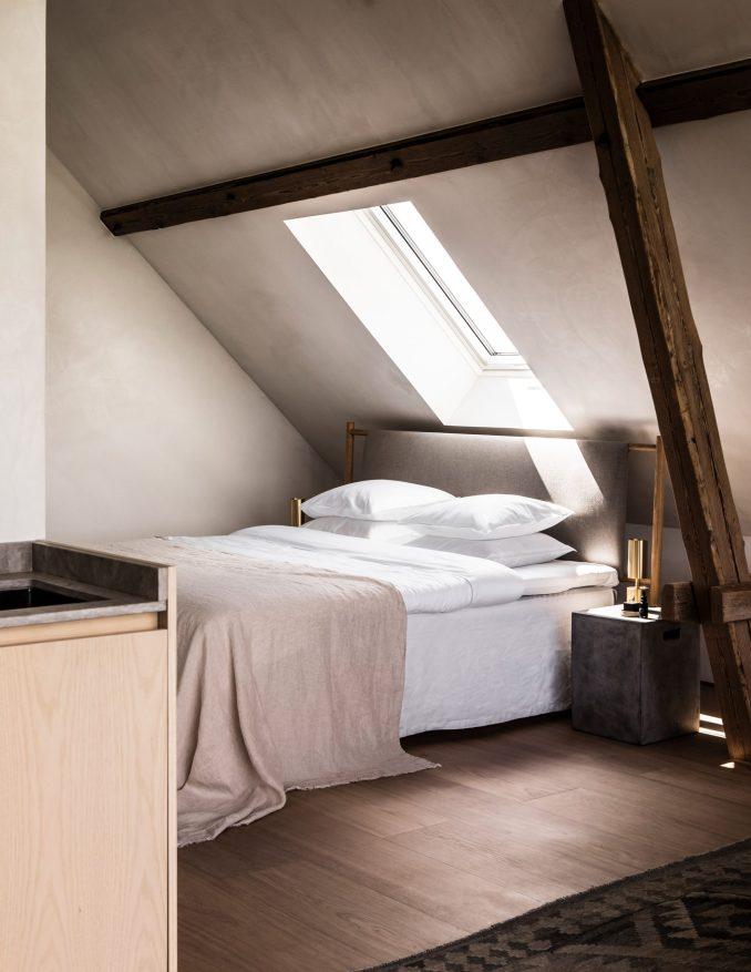 Bedroom of TypeO Loft in Sweden