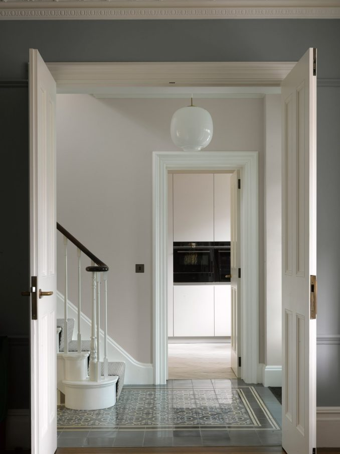 Entrance hallway in Hampstead House by Dominic McKenzie Architects