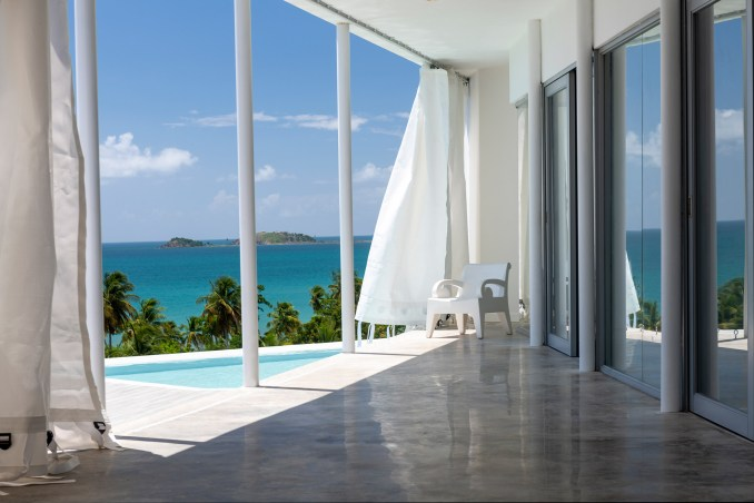 Views of the Caribbean Sea from Casa Flores