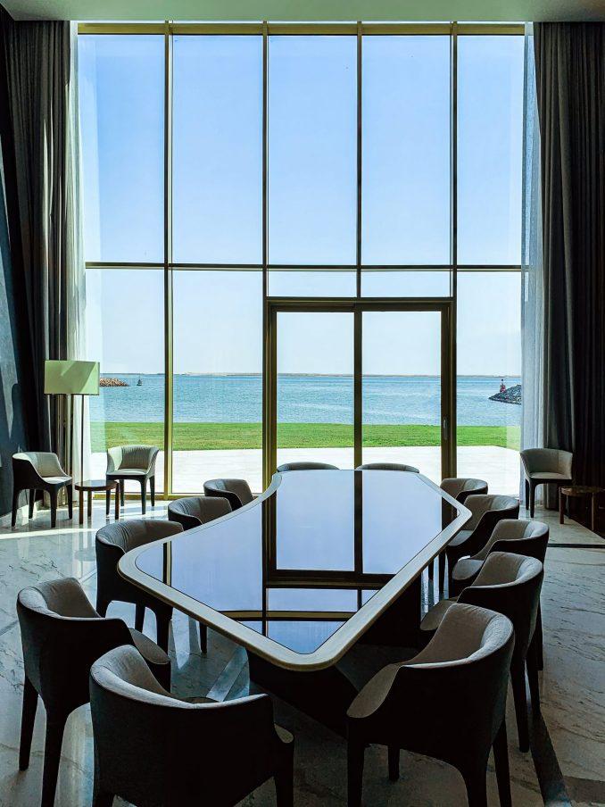 Dining room in Abu Dhabi villa