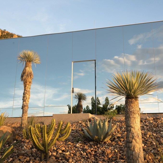 A mirrored house in Mexico