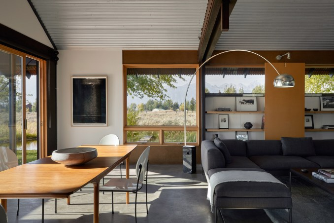 Living area of house in Wyoming