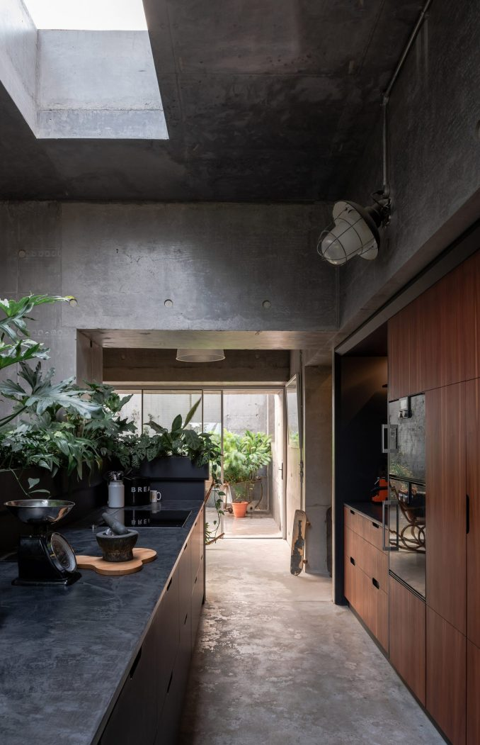 The kitchen of Concrete House by RAW Architecture Workshop in East Sussex