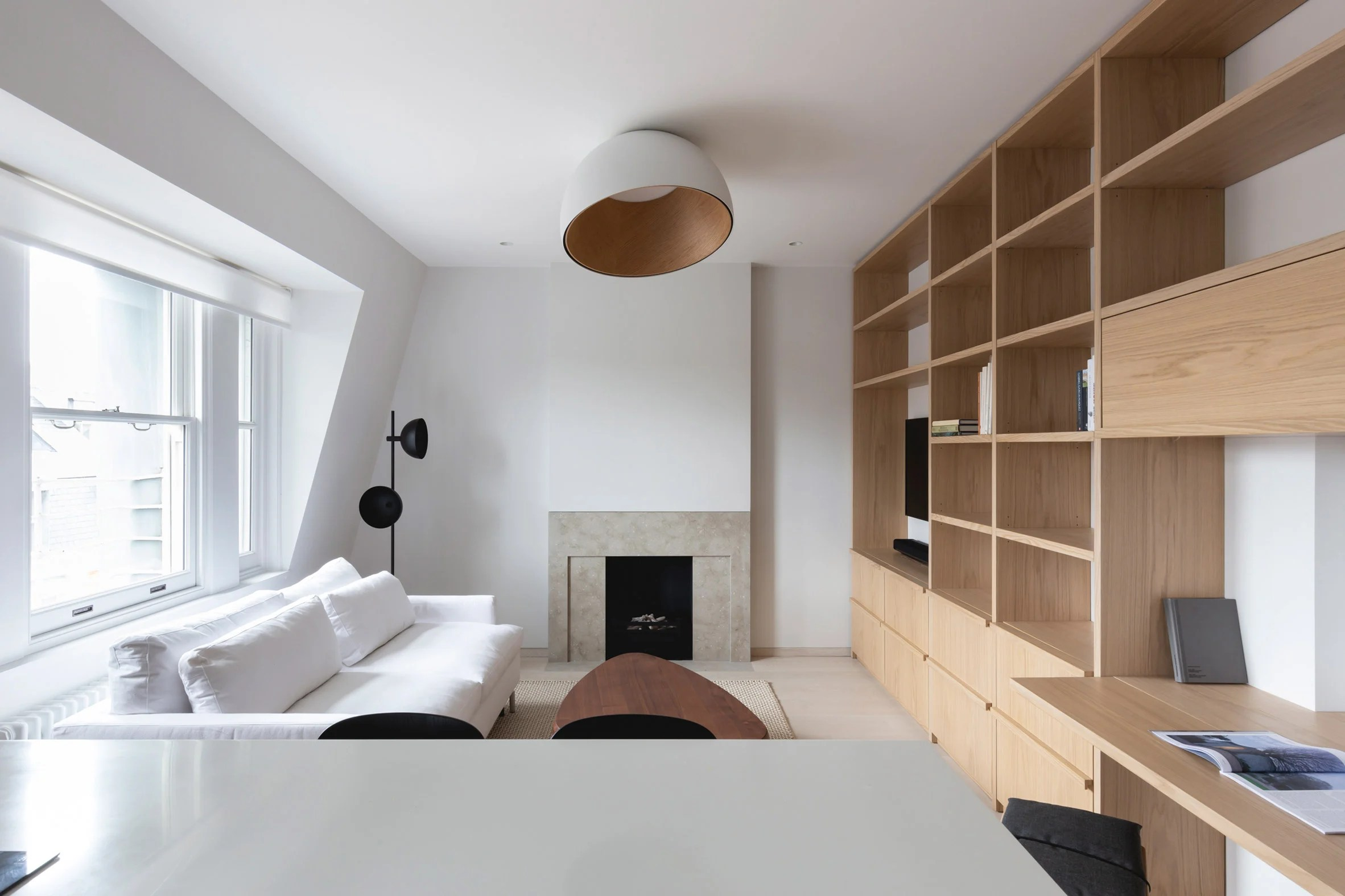 Interior view of Mayfair pied-à-terre by MWAI