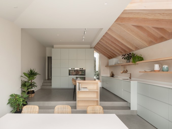 Interior of kitchen in London house