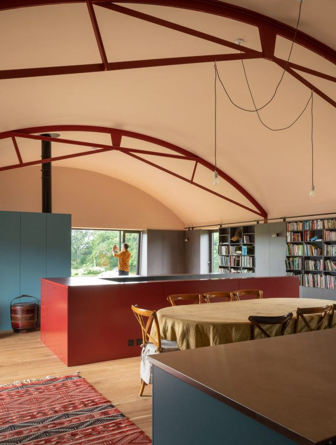 Living room in barn conversion