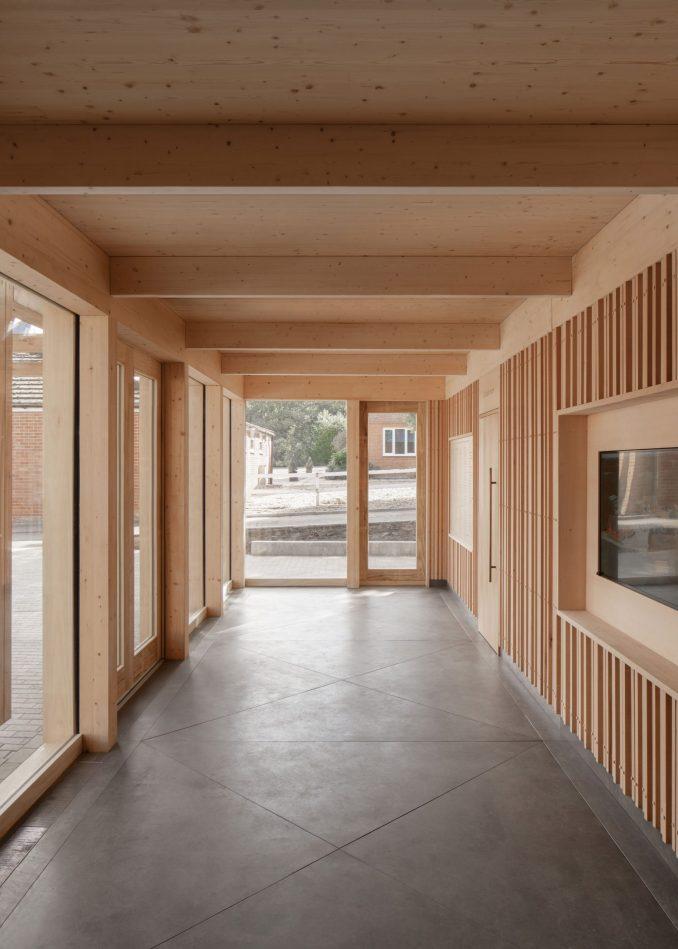 Cross-laminated timber interior with Viroc floors