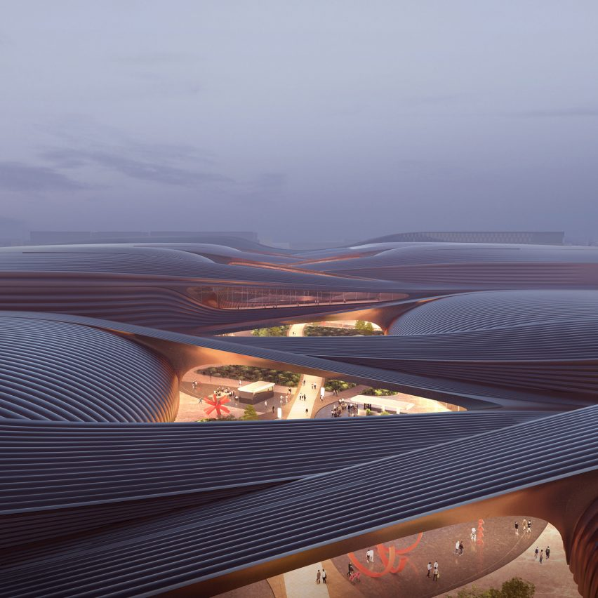 International Exhibition Centre in Beijing by Zaha Hadid Architects