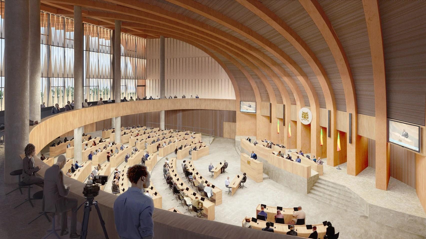 Benin parliament main assembly hall