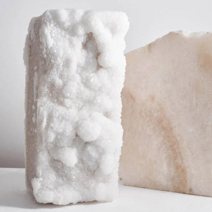 Building blocks with crystals