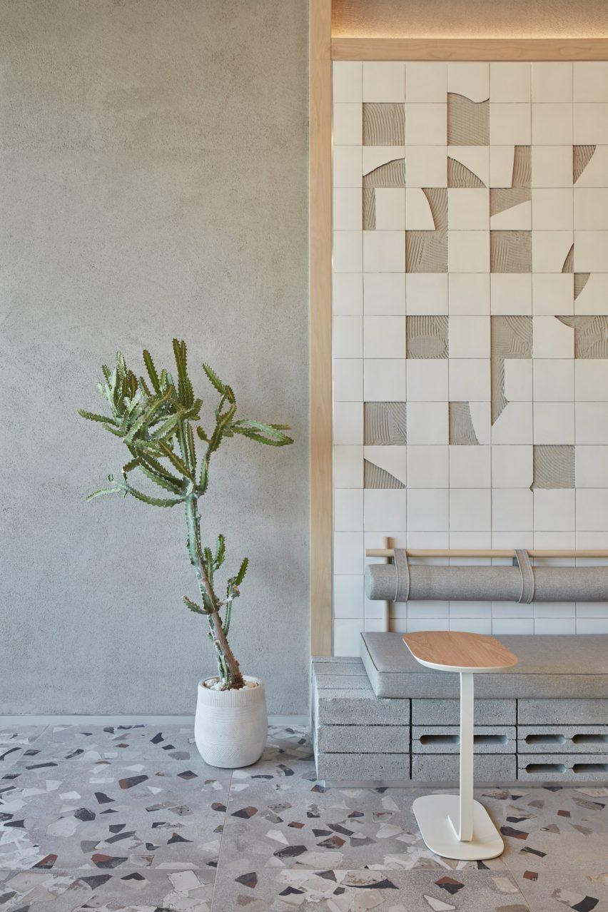roar studio with terrazzo and broken tiles