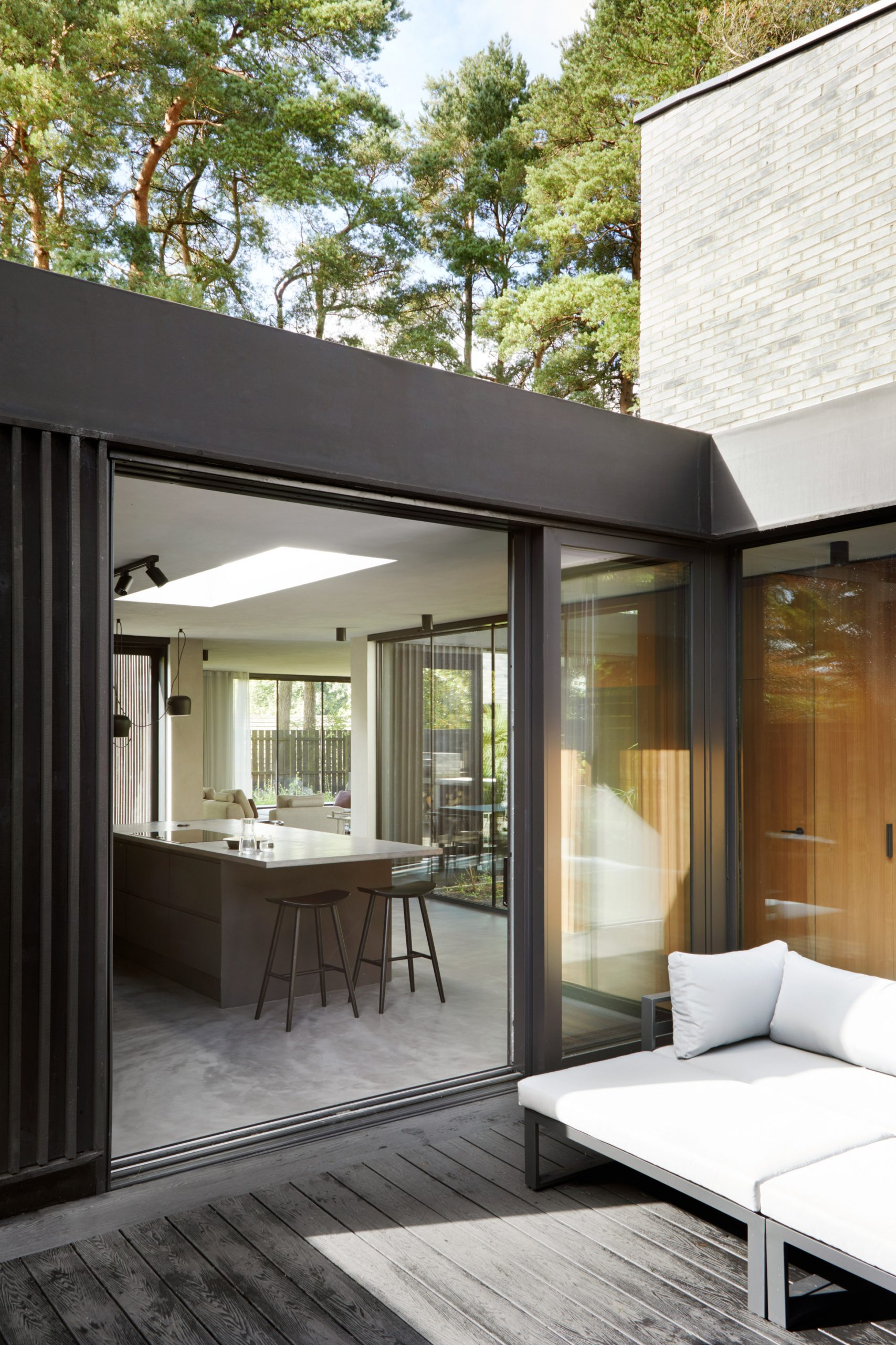 A courtyard leading into the kitchen of a house in Glasgow