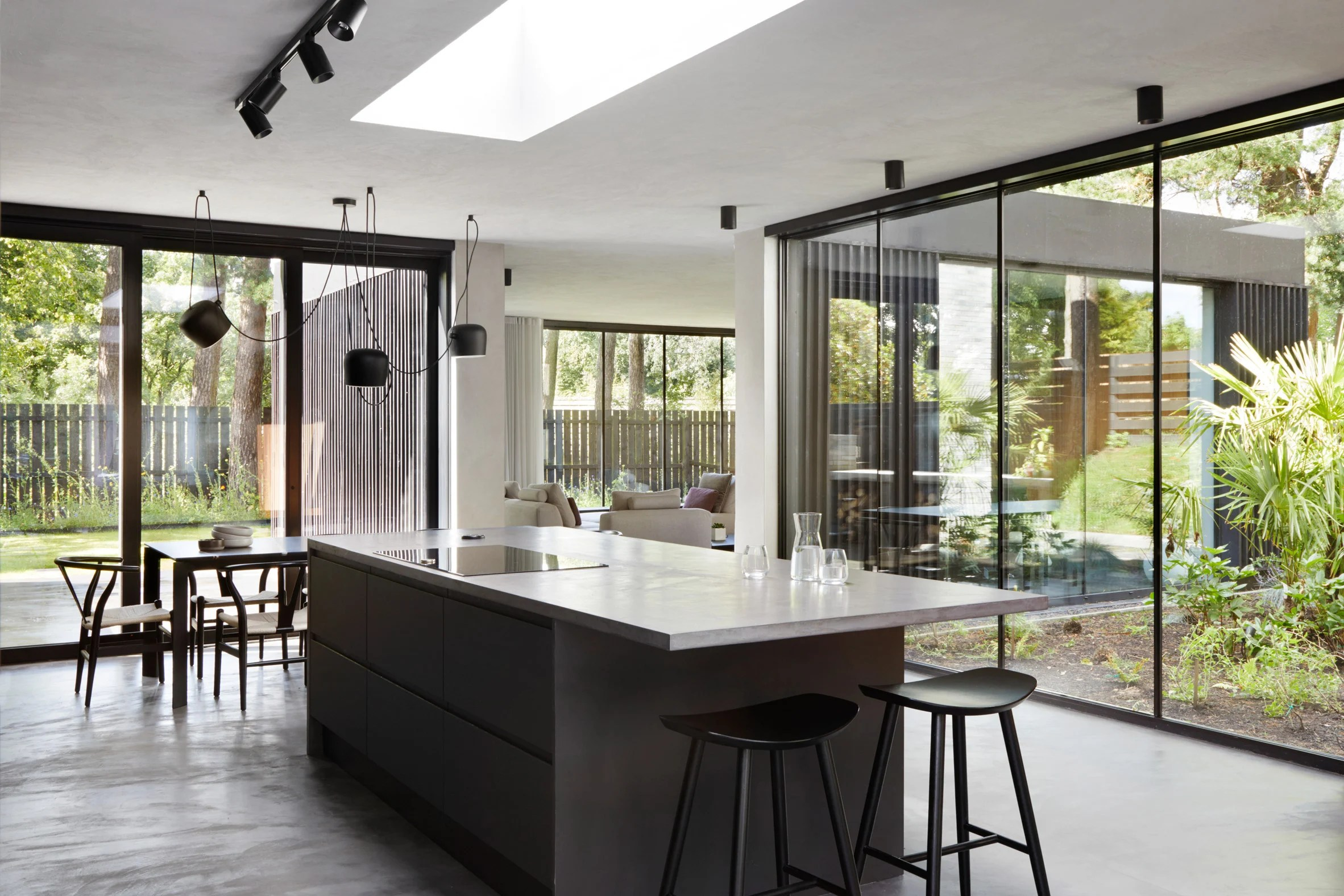A minimalist kitchen within a house in Glasgow