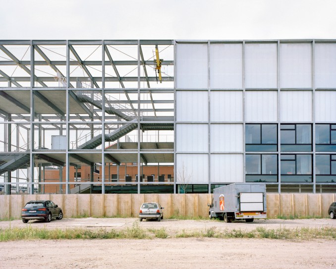 Side elevation of Melopee School in Ghent by XDGA