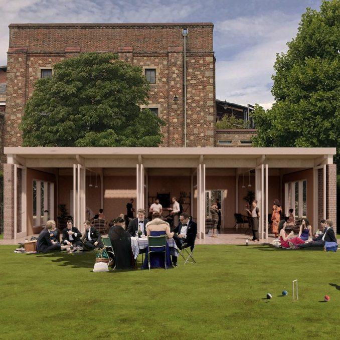 A single-storey garden pavilion